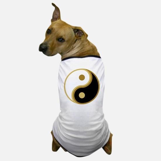 Yin Yang, Gold Dog T-Shirt