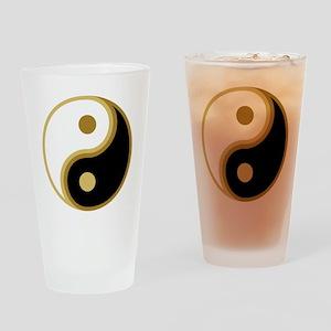 Yin Yang, Gold Drinking Glass