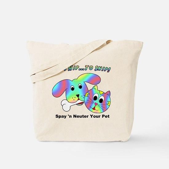 HIP TO SNIP - 8 x 10 Apparel Tote Bag