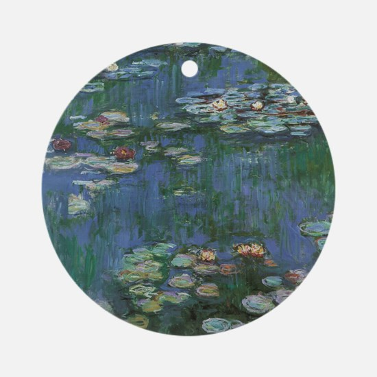 Claude Monet Water Lilies Round Ornament