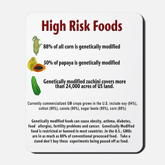 high risk gmo foods Mousepad