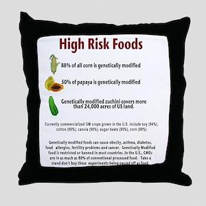 high risk gmo foods Throw Pillow