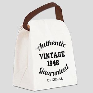 Authentic Vintage 1948 Canvas Lunch Bag
