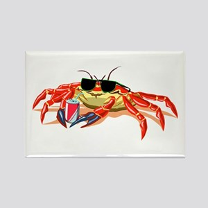 Cool Cancer Crab Rectangle Magnet