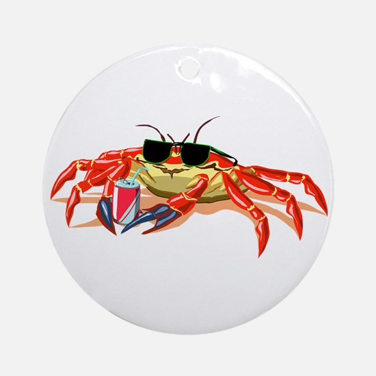 Cool Cancer Crab Ornament (Round)