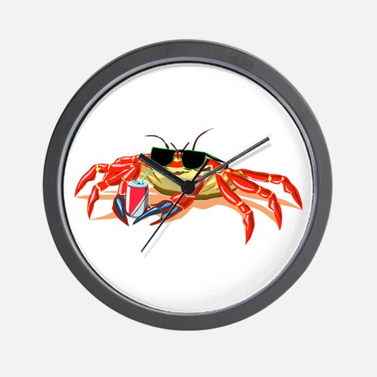 Cool Cancer Crab Wall Clock