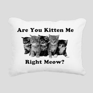 Light Kitten Me Right Me Rectangular Canvas Pillow