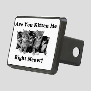 Light Kitten Me Right Meow Rectangular Hitch Cover