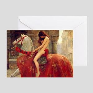 John Colloer Lady Godiva Greeting Card