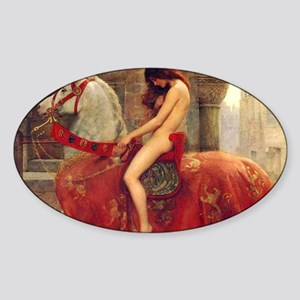 John Colloer Lady Godiva Sticker (Oval)