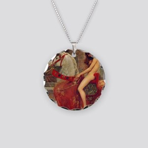 John Collier Lady Godiva Necklace Circle Charm