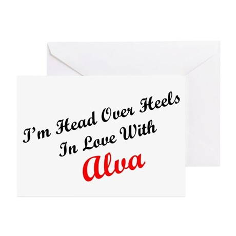 In Love with Alva Greeting Cards (Pk of 10)