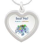 Billiard Sea Dragons Silver Heart Necklace