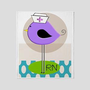 RN Bird Purple CASES Throw Blanket