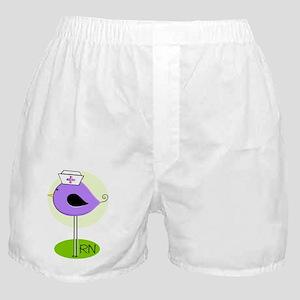 RN bird purple DARKS Boxer Shorts