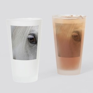 PUZZLE - White Horse Drinking Glass