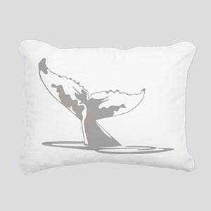 Humpback Whale Tail Rectangular Canvas Pillow