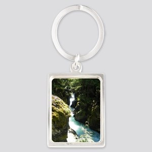 Glacier Waterfall Portrait Keychain