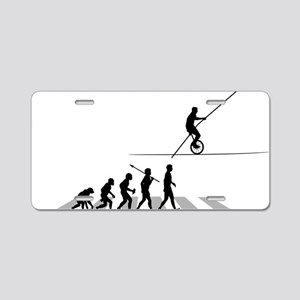 High-Wire-Unicycle Aluminum License Plate