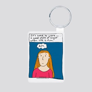 Angst Cartoon Aluminum Photo Keychain