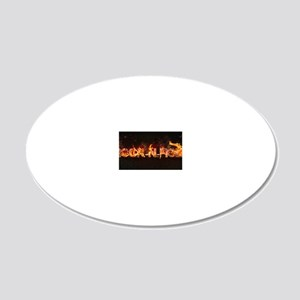 rock-n-roll 20x12 Oval Wall Decal