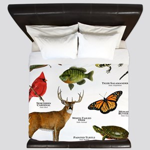Illinois State Animals King Duvet