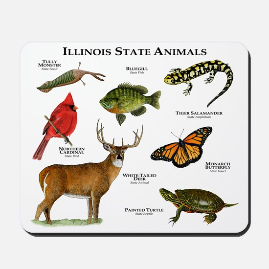 Illinois State Animals Mousepad