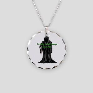 Dexter Dark Passengers Grim  Necklace Circle Charm