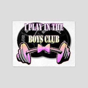 Boys club  5'x7'Area Rug