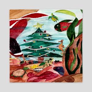 Santa Mermaid under the Sea Queen Duvet