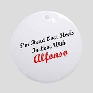 In Love with Alfonso Ornament (Round)