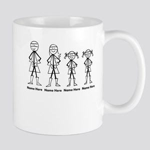Personalized Super Family 2 Girls Mug