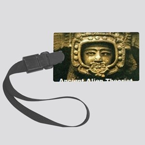 Ancient Alient Theorist Large Luggage Tag