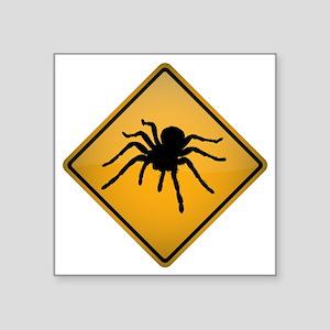 "Tarantula Warning Sign Square Sticker 3"" x 3"""