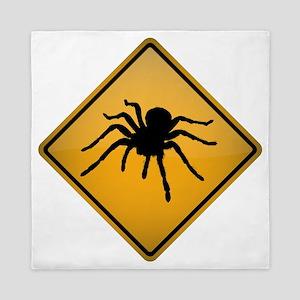 Tarantula Warning Sign Queen Duvet