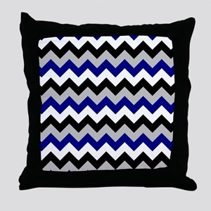 Chevron zigzag design black white gre Throw Pillow