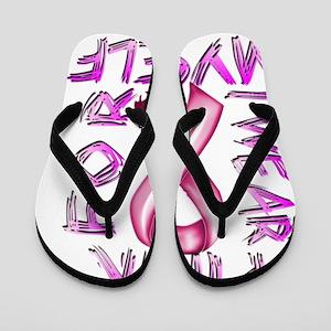 I Wear Pink for Myself Flip Flops