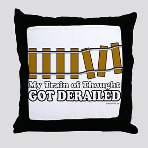 Derailed Throw Pillow