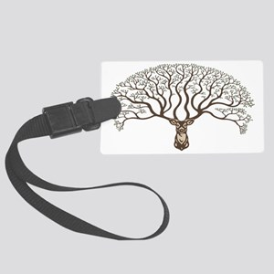 deer-tree-CAP Large Luggage Tag