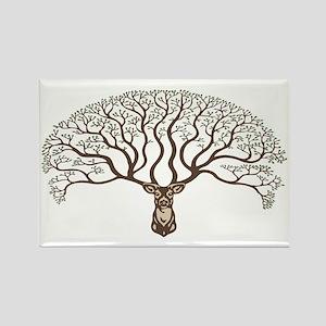deer-tree-CAP Rectangle Magnet
