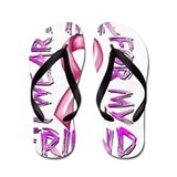Breast cancer awareness Flip Flops