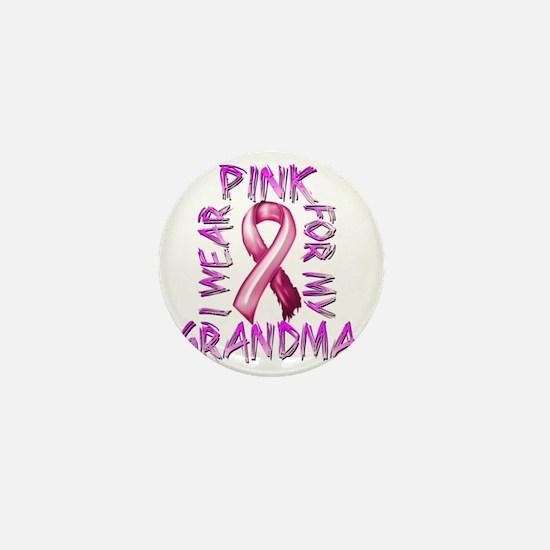 I Wear Pink for my Grandma Mini Button