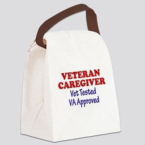 Vet Caregiver Heart Canvas Lunch Bag