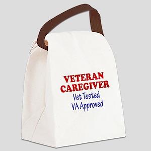 Vet Caregiver Heart Canvas Lunch Bag
