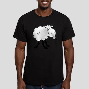 0013_Sheep14 Men's Fitted T-Shirt (dark)