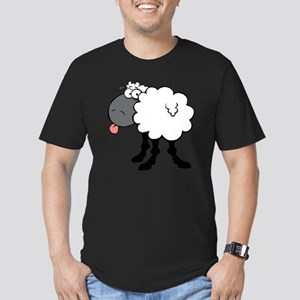 0049_Sheep58 Men's Fitted T-Shirt (dark)