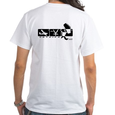 Jump Stages Skydiving White T-Shirt