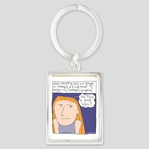 Therapy Cartoon Portrait Keychain