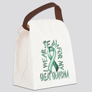 I Wear Teal for my Great Grandma Canvas Lunch Bag