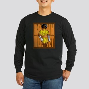 Brown hornet Long Sleeve Dark T-Shirt